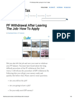 PF Withdrawal After Leaving Job- How to Apply