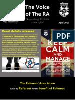 RA News (April 2016)