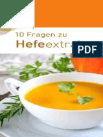 Hefeextrakt 10 Fragen