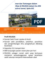 Pengalaman Dan Tantangan Manajemen Obat Di RSUD Zainal Abidin