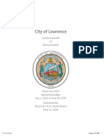 FY2017 City of Lawrence, MA Budget