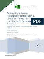 Componente Contactos Formulario Joomla Configurar Php Mail Smtp