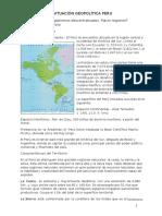 situación geopolítica Peru