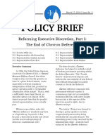 Reforming Executive Discretion, Part I - The End of Chevron Deference