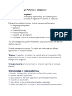 Introduction to Strategic Performance Management