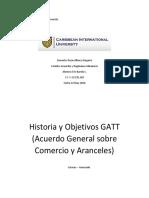 Historia y Objetivos Del GATT y Mapa Mental