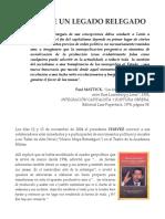 Ángel C. Colmenares E.  - EN POS DE UN LEGADO RELEGADO
