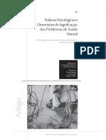 Práticas Psicológicas e Dimensões de Significação dos Problemas de Saúde Mental