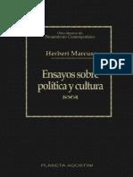 Herbert Marcuse - Ensayos Sobre Política y Cultura