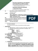 Informe Tecnico 001 Mejoramiento y Ampliacion Del Serv Icio de Agua Potable y Alcantarillado en El Ccpp San Fernando de Kivinaki