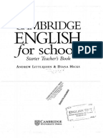 Cambridge English for Schools Starter Teacher Book.pdf