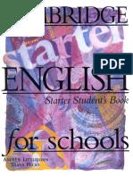 Cambridge English for Schools Starter Student Book.pdf