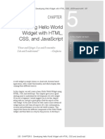 Creating Hello World Web Widget With HTML CSS and Javascript