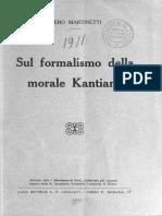 Martinetti Sul Formalismo Della Morale Kantiana