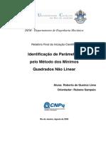 2009_Identificação de Parâmetros Pelo Método Dos Mínimos Quadrados Não Linear_PUCRJ