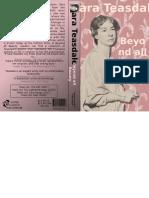 sara teasdale book cover