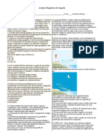 Avaliação Diagnóstica Geografia 3º Ano