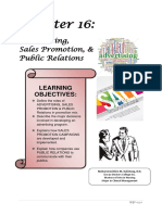 Chapter 16 - Advertising, Sales Promotion & Public Relations