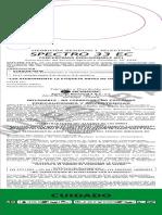 Etiqueta Spectro 33 EC