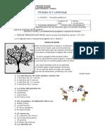 Prueba de Lenguaje 5° básico