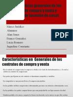 Características generales de los contratos de compra y venta y contratos de locación de cosas