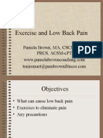 Exercise and Low Back Pain