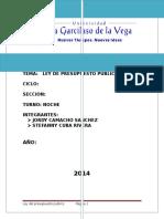 Capitulo I Principios de La Ley Del Presupuesto-2