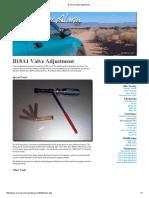 B Series Valve Adjustment