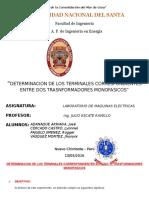 Determinacion de Los Terminales Correspondientes Entre Dos Trasnformadores Monofasicos