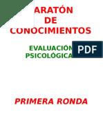 MARATÓN - Evaluación Psicológica I