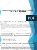 Sejarah Perumusan Muqaddimah Anggaran Dasar Muhammadiyah