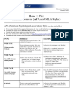 How to Cite Internet Sources in APA and MLA