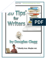 20 Tips for Writers by Douglas Clegg