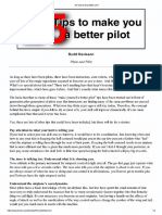 25 Tips to Be a Better Pilot