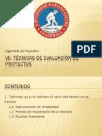 VII Tecnicas de Evaluacion de Proyectos 1