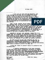 Eric Berne Letter to Henry Simon, 1947-06-18