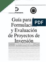 Guia Para Los Proyectos de Inversion