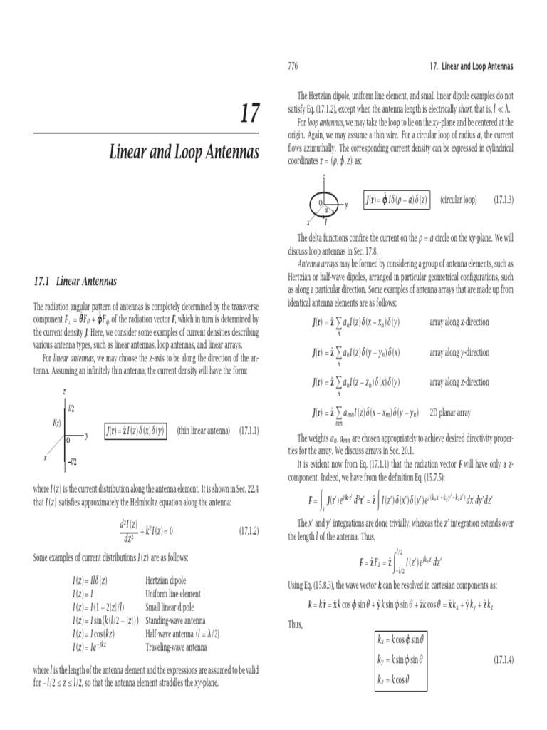 ch17 pdf | Antenna (Radio) | Trigonometric Functions
