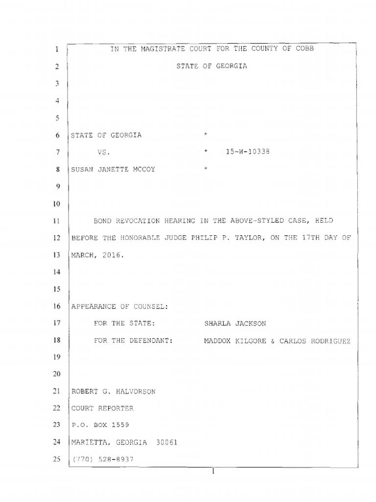 Georgia v susan mccoy bond hearing transcript public law georgia v susan mccoy bond hearing transcript public law government 1betcityfo Images