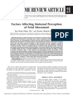 Factors Affecting Maternal Perception of Fetal Movements