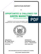 "dissertation project on green marketing Manpreet singh (mba oil & gas) acknowledgement this project got   thanks to mr skpokhriyal for allowing me to undertake this dissertation project  in my last semester  11 what is ""green marketing"" or environmental marketing."
