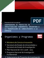 Presentación Proyectos TRACE