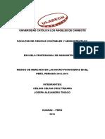 Las Micro financieras en el Perú