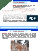 1.- Albañileria y Tipos de Construccion