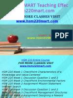 HSM 220 MART Teaching Effectively/hsm220mart.com