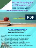 HTT 200 MASTER Teaching Effectiverly/htt200master.com