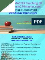 HSM 270 MASTER Teaching Effectiverly/hsm270master.com