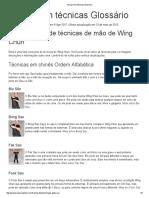 Wing Chun Técnicas Glossário