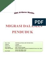 Kerja Khusus Migrasi Dalaman Penduduk 2010  Full Edition