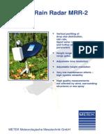 Metek Micro Rain Radar MRR 2 Datasheet